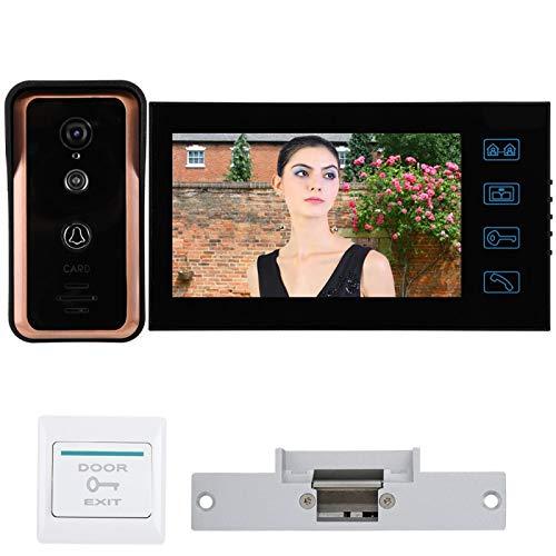 SALUTUYA 7in 1V1 Monitores Videoportero con Cable con cámara CMOS de 1000 Cables(Australian regulations (100-240V))