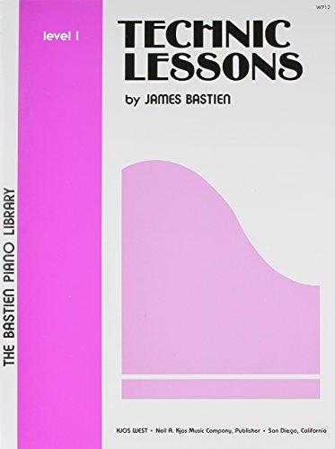 Bastien Piano Library Technic Lessons Level 1: Noten für Klavier