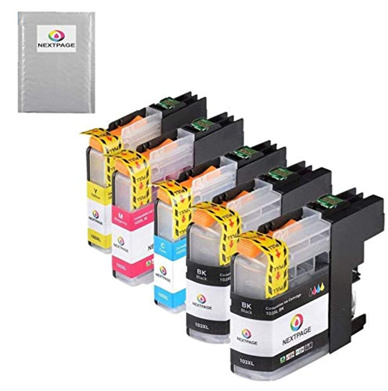 NEXTPAGE Compatible Ink Cartridge Replacement Brother LC-103XL LC103XL LC103 XL Color Ink Cartridges MFC-J870DW MFC-J450DW J470DW J6720DW J4510DW J4710DW J475DW J285DW Printer, 5 Black