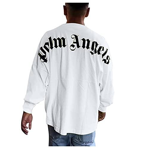 Palm Angel-Langarmshirt Herren/Damen Pullover Sweatshirt Loose Normal Pullover Herrenmode Langarm Hip Hop Langarm Pullove Hoodie Fashion Streetwear Y2K Fashion Shirt Herren Damen Pullover