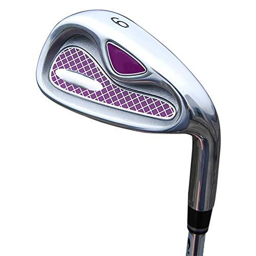 Xhtoe Golfclub Rosa Damen Golfschläger Anfänger Eisen Gruppe 4/5/6/8/9 / p/s Stabile Lange Golf Putter Golfhandschuhe Golfschlägerset (Farbe : Steel Rod, Größe : 9)