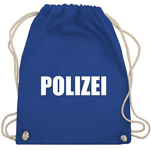 Shirtracer Karneval & Fasching - Polizei Karneval Kostüm - Unisize - Royalblau - polizei kostüm turnbeutel - WM110 - Turnbeutel und Stoffbeutel aus Baumwolle
