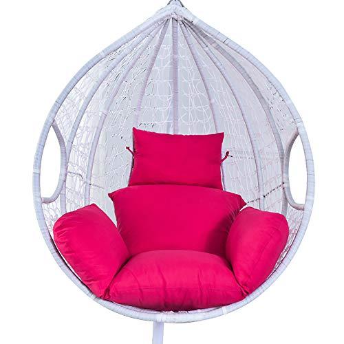 Cuscino per Sedia Sospesa a Dondolo Swing Singolo Cuscini Sdraio Imbottito Cuscino Lettino Divano Sofa , Giardino Interno Esterno Soggiorno Cortile Terrazzo (Rosa rossa)