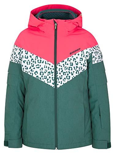 Ziener Mädchen ALJA Junior Kinder Skijacke, Winterjacke | Wasserdicht, Winddicht, Warm, Spruce Green Washed, 164
