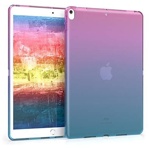 kwmobile Cover Compatibile con Apple iPad Air 3 (2019) - Custodia Tablet in Silicone TPU - Copertina Protettiva Tab - Backcover - 2 Colori Fucsia/Blu/Trasparente