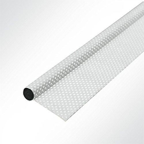 LYSEL Zeltkeder doppelfahnig verschweißt weiß, (D) 7.50mm in Weiß (1 lfm)