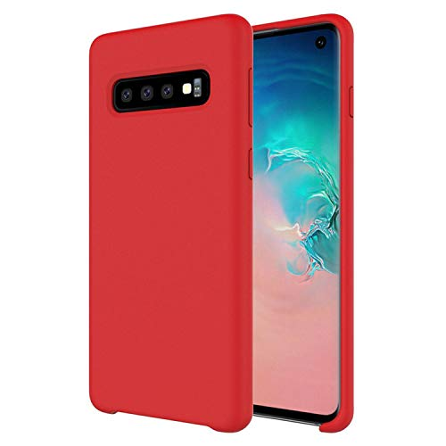 Gorilla Gadgets Liquid Soft Silicone Case Fit Compatible with Samsung Galaxy S10 Plus, Shockproof Full Protection PC Cover with Soft Microfiber Cloth Lining Cushion