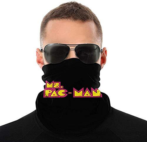 Ms. Pac-Man - Bandana unisex alla moda, con logo Nero  Etichettalia unica