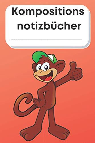 Affen-Kompositionshefte: Lustiges 2021 Valentinstag-Notizbuch für ein Geschenk an Freund, Freundin 110 Seiten