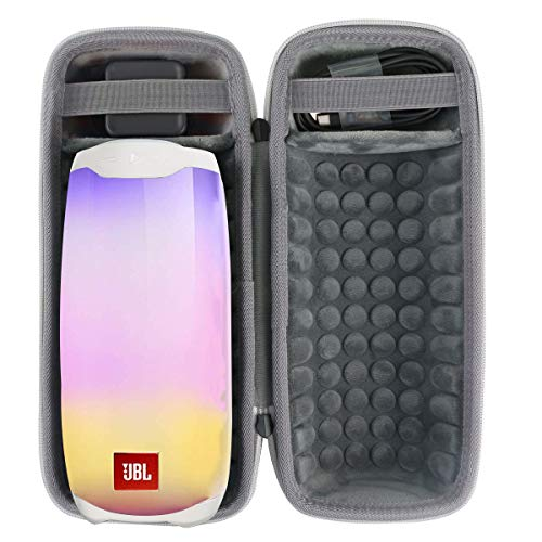 co2CREA Harte reiseschutzhülle Etui Tasche für JBL Pulse 4 Tragbarer Bluetooth-Lautsprecher (Grau Tasche für JBL Pulse 4)