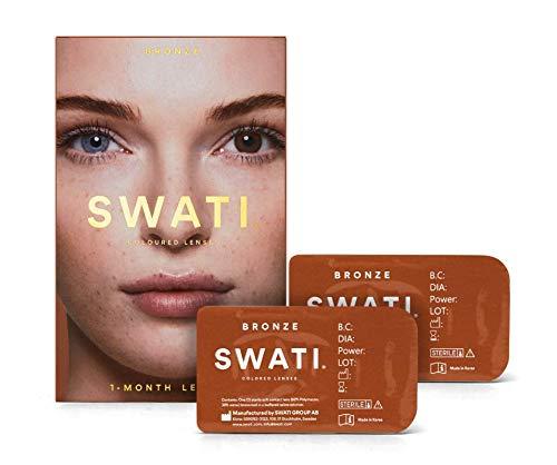 Bronze (Braun) - 1 Monate Kontaktlinsen Farbig - SWATI Cosmetics Natürlich Aussehende Kontaktlinsen