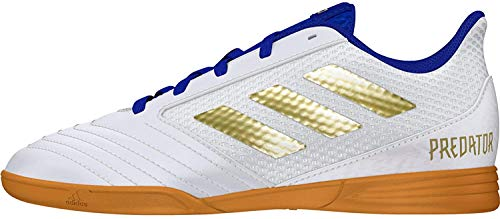 Adidas Predator 19.4 In Sala J, Botas de fútbol Niño, Multicolor (Ftwbla/Dormet/Fooblu 000), 31 EU
