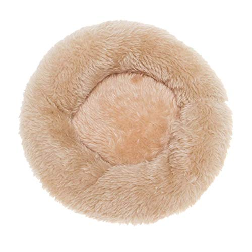 Round Kennel Comfortable Quiet Small Medium-sized Large Dog Mats Washable Pet Bed Soft Warm Cat Dog Bed (Color : Y, Size : S)