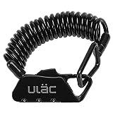 ULAC 自転車 ロック 鍵 ワイヤーロック ロードバイク ベビーカー バイク サドルロック 軽量 携帯便利 盗難防止(黒)