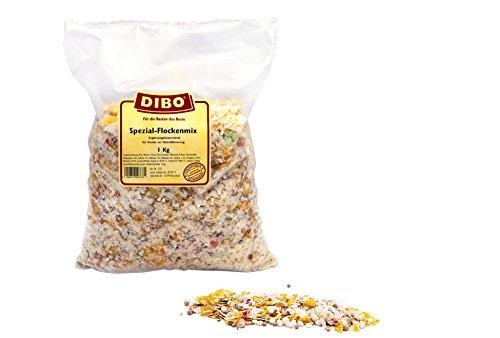 DIBO Spezial-Flocken-Mix, 1kg-Beutel, Nahrungsergänzung als gesunde, natürliche Ernährung für Hunde, Hundefutter, BARF, B.A.R.F.