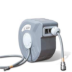Hengda Enrollador automático de manguera de aire comprimido, 10m, Soporte de Pared, Rotación de 180 °, presión de…