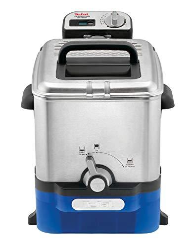 Tefal Oleoclean 3,5 L Filtration automatique de l'huile Mineur digital Hublot de contrôle Thermostat réglable Boite de stockage d'huile, Inox FR804015