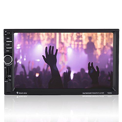 7 pollici HD Touch Screen 2DIN Autoradio,stereo auto con Bluetooth lettore video MP5 con radio FM Radio AUX Telecomando Telecamera retrovisiva.