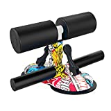 LAPONO Sit Up Bar Device for Target abdominal Training,Portable Sit-Up Bar Aid-Accessories for Floor, Adjustable Self-Suction Sit Up Bar with 2 Suction Cups, for Family,travel,Daily Body