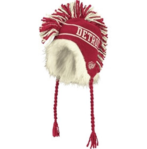 Reebok Detroit Red Wings 2014 Winter Classic Mohawk String Knit Hat - Red