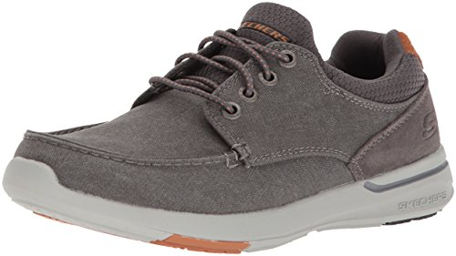 Skechers Men's Relaxed Fit-Elent-Mosen Boat Shoe,charcoal,8 M US