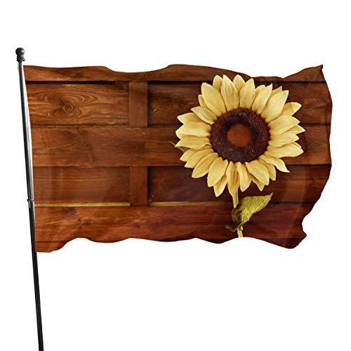LZHANDA Jardín Banderas Decoración de Exterior, Outdoor Sunflower and Wood Garden Flag, Game Flag - 3 X 5 Ft