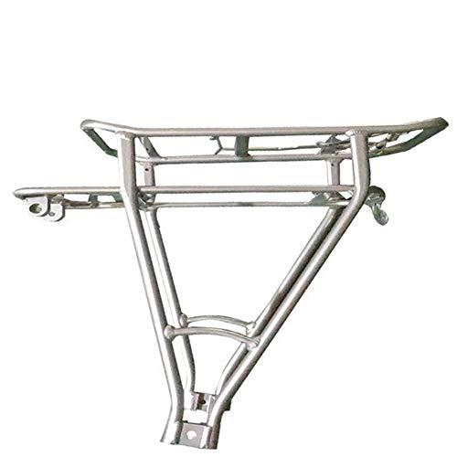 Portabultos Bicicleta Negro 20inch equipaje de la bici Estante de la capa doble de bicicletas soporte de la batería trasera ajustable soporte for servicio pesado de bicicletas Portaequipajes Para Bici