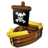 hersrfv home Pirate Ship Inflatable Cooler Pirate Birthday Halloween Party Prop Decor