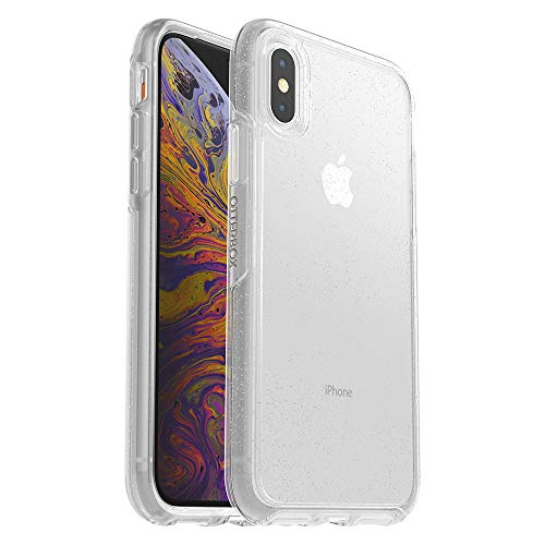 OtterBox Symmetry Clear Series Case for iPhone Xs & iPhone X - Retail Packaging - Stardust (Silver Flake/Clear)