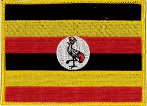 Klicnow Parche de bandera de Uganda (bordada), 12 cm x 9 cm