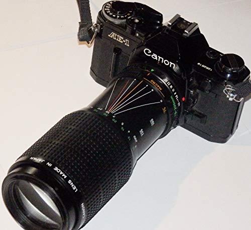 Canon Ae-1 AE1 Incl. PHOTOBLITZ - Objetivo para Canon Zoom LED FD 75-200 mm 1:4.5 MC