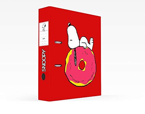 Erik - Raccoglitore a leva per documenti Snoopy, formato protocollo, cartone, dorso 7 cm, licenza ufficiale