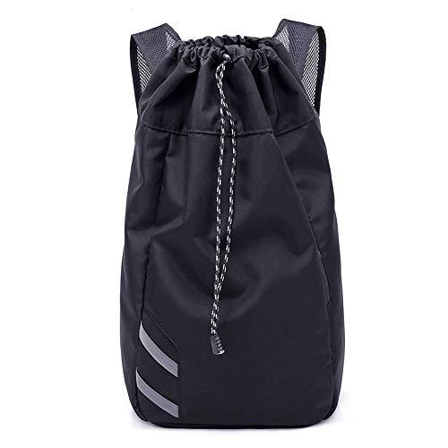 新しいトレンドバックパック、屋外トレーニングバスケットボールバッグ、レジャースポーツジムバッグ、大容量パッケージ、男性と女性の管状ストレージバッグ、ブラック