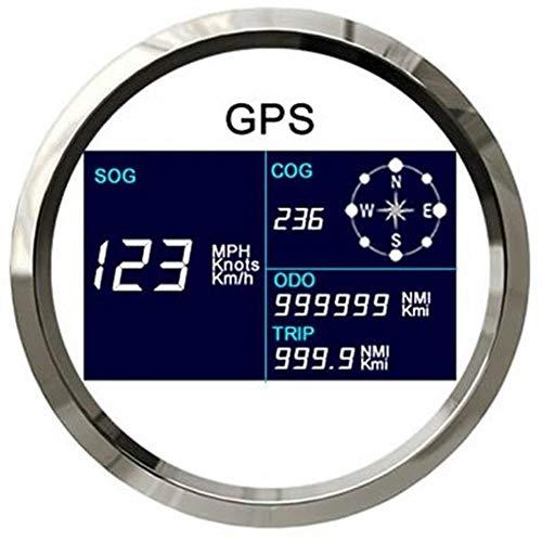 U/D HKRSTSXJ Medidor GPS velocímetro Digital Velocidad del odómetro del LCD de Golf con GPS Antena 85mm Kilometraje Velocímetro Ajustable (Color : WS, Size : Gratis)