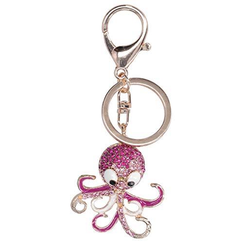 Llavero, llavero, 2 piezas de diamantes de imitación con colgante de regalo para las vacaciones de un miembro de la familia(Rose Red + Rose Red)