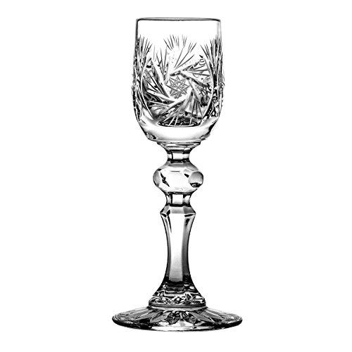 Crystaljulia 6913 Copas de licor, Cristal con Plomo, claro