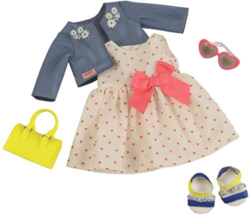 Our Generation BD30246 Deluxe HeartPrint Dress Outfit