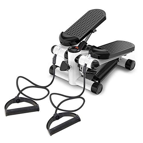 Ezeruier Cinta de correr de fitness con máquina de mini pasos, puede hacer ejercicio aeróbico, montañismo simulado, equipo de fitness para ejercicios en el hogar, con banda de resistencia, placa de ci