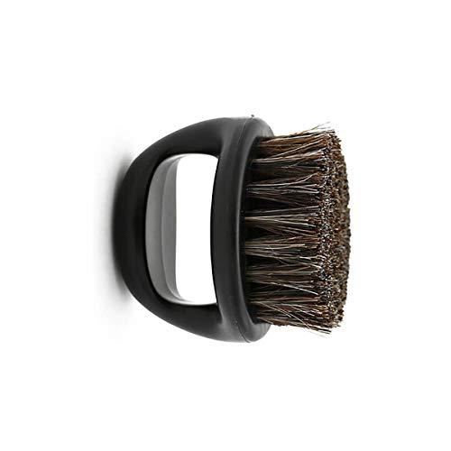 Hombres Cepillo de Afeitar Portátil ABS Mango Barber Barber Barber Cepillos Salon Cara Limpieza Razor Brush Negro