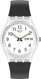 Swatch Gent Standard Quartz bio-sourced Material Strap, White, 16 Casual Watch (Model: GE726)