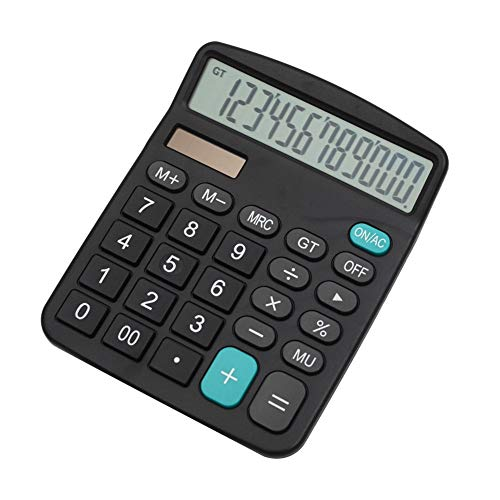 Mengshen Calculadora de Oficina Dual Power Pantalla de 12 dígitos Batería Solar Calculadora financiera dedicada Función estándar Grande Calculadora Comercial de Escritorio Máquina de cálculo