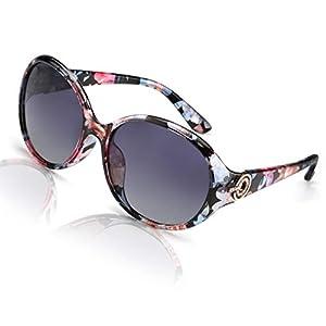 FIMILU Oversized Polarized Sunglasses for Women, 100% UV400 Protection Fashion Retro Anti-Glare HD Ladies Eyewear