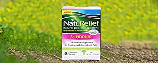 NatuRelief Natural Menstrual Cramp Relief Supplement – 30 Tablets for Cramps, Period Pain & Premenstrual Symptoms - Menstruation Remedy - Instant Relief Period Pills - Raspberry Flavor - Pack of 1