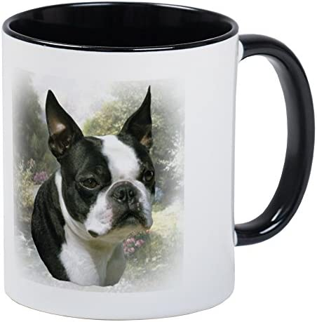 CafePress Boston Terrier Mug 11oz Coffee Mug Microwave and Dishwasher Safe Boston Terrier White product image