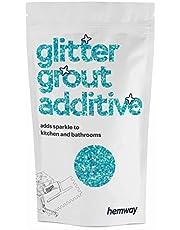 Hemway - Glittertoevoeging voor voegmortel - voor badkamer, natte cellen en keukens - voor het mengen met epoxyhars/cement gebaseerde voegmortel - hittebestendig, kleurecht, niet roestend - 100 g