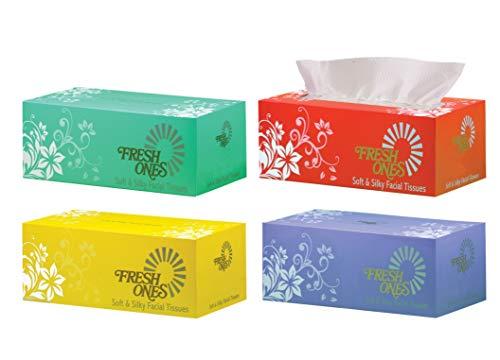 FreshOnes Facial Tissues (100 Pulls x 2 Ply, Pack of 4) (FG000078)