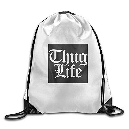 Etryrt Turnbeutel/Bedruckte Sportbeutel, Premium Drawstring Gym Bag, Thug Life Sweatshirts Hoodie3D Print Drawstring Backpack Rucksack Small Shoulder Bags Gym BagPrint Drawstring Backpack