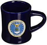 U.S. Air Force Stoneware Blue Ceramic Tea Coffee Dinner Mug