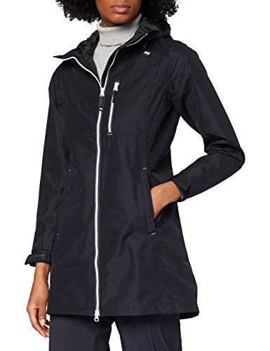 Helly Hansen Damen W Long Belfast Jacke, Black, XXL