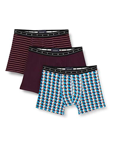 Scotch & Soda Mens Boxershorts aus Baumwollmischung im 3er-Pack Boxer Shorts, Combo A 0217, S